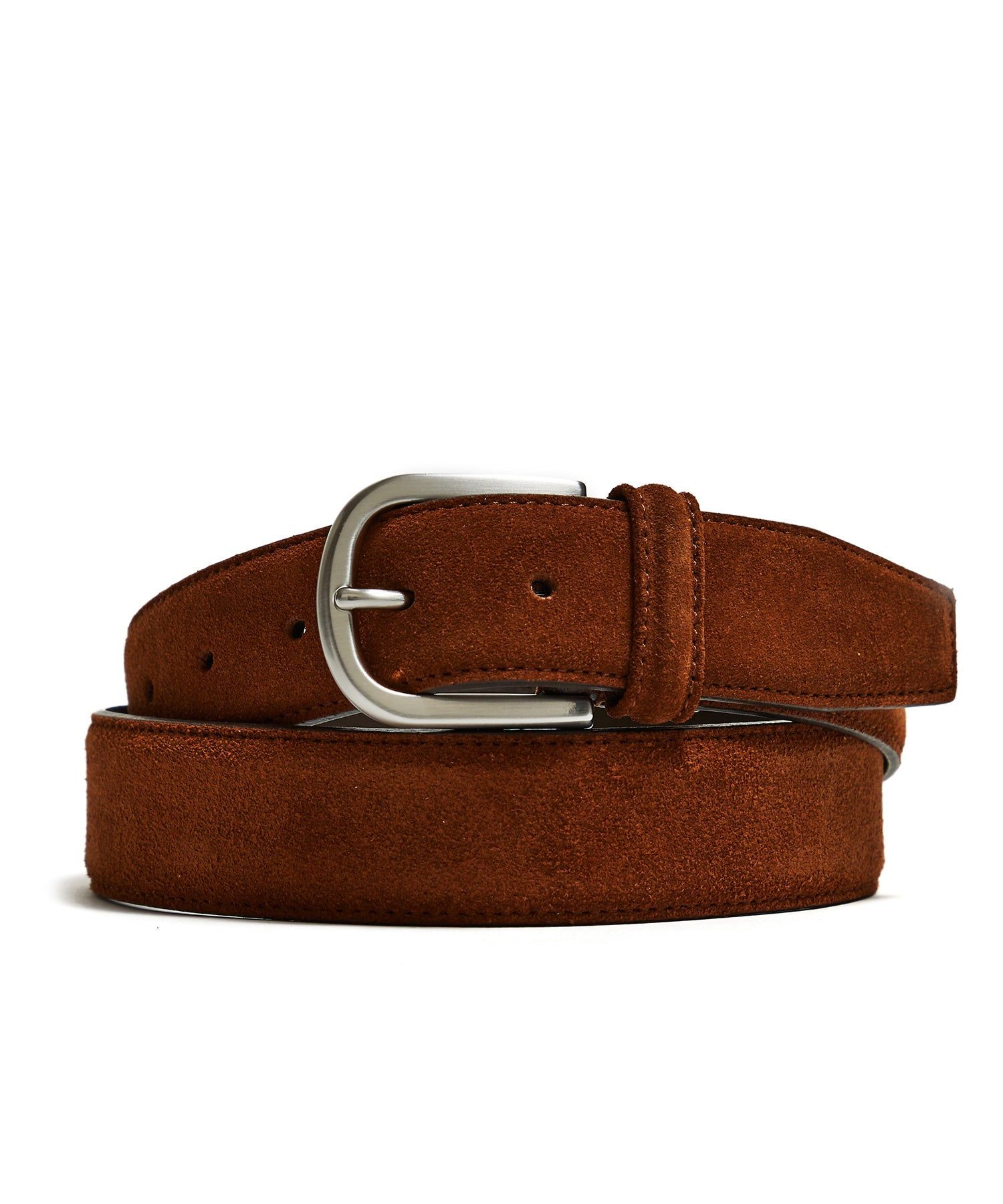 Anderson's Suede Belt in Dark Brown