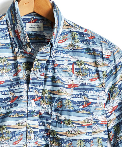 Hartford Hawaiian Surf Print Shirt