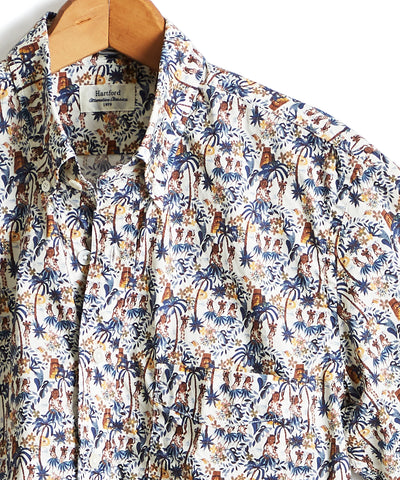 Hartford Hawaiian Tiki Print Shirt