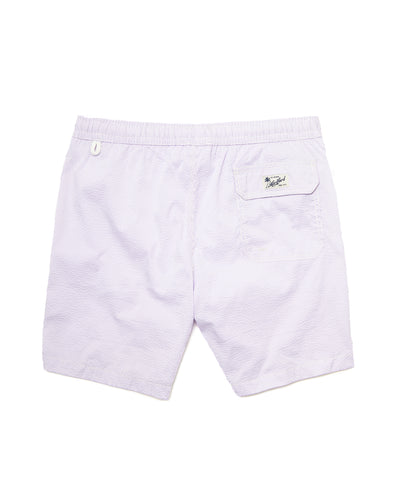 Hartford Seersucker Swim Trunks in Lilac