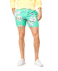 Hartford Watercolor Flower Swim Trunks in Green Alternate Image