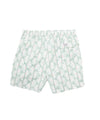 Hartford White Fans on Light Green Swim Trunks