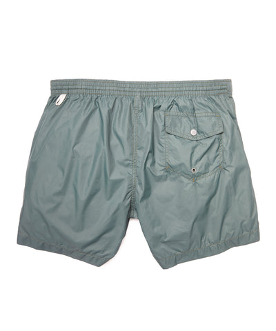 Hartford Kuta Solid Swim Trunks in Army Green