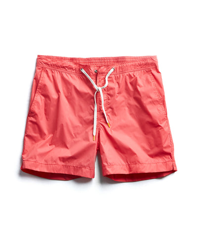 Hartford Kuta Solid Swim Trunks in Pink