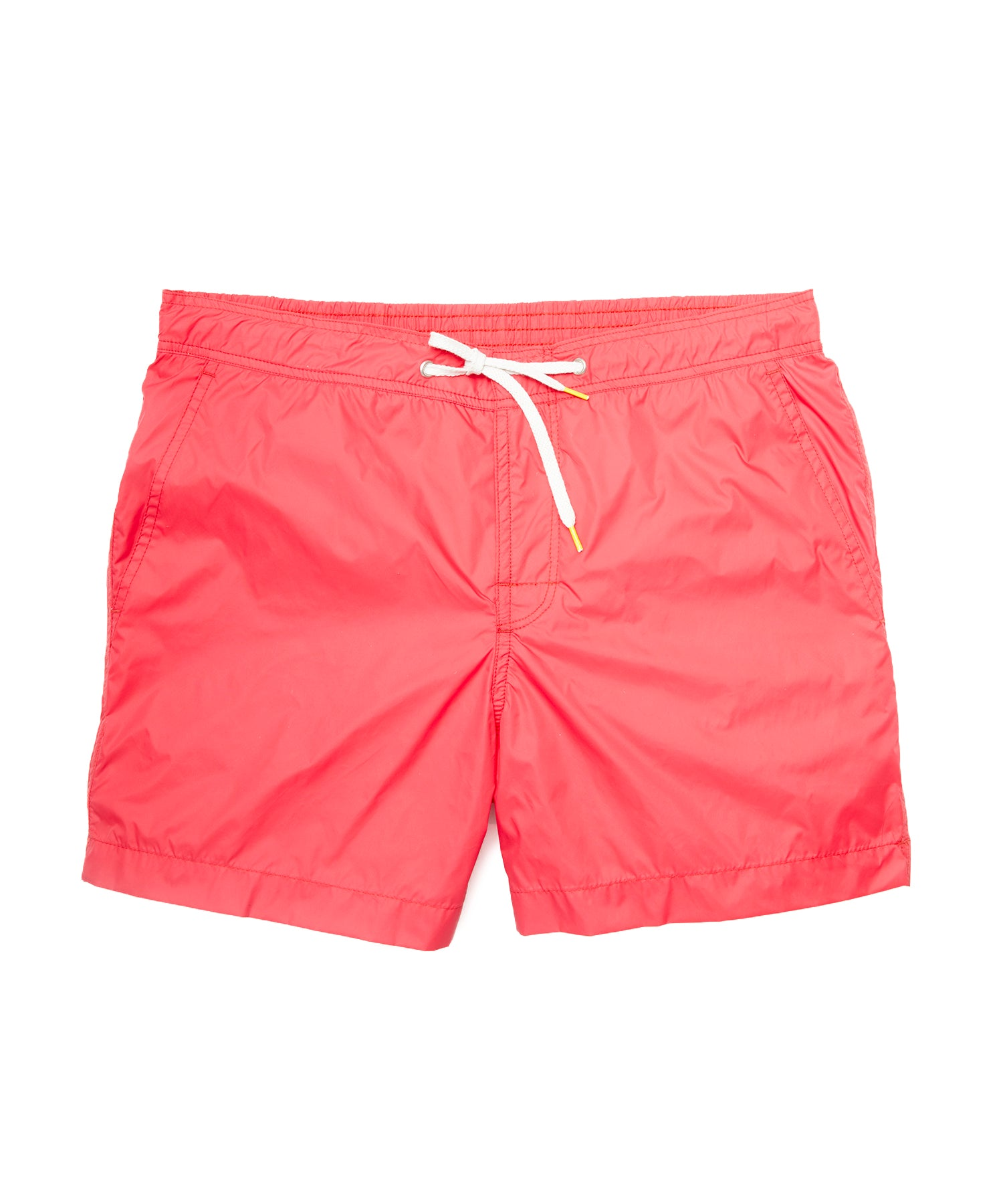 Hartford Kuta Solid Swim Trunks in Red