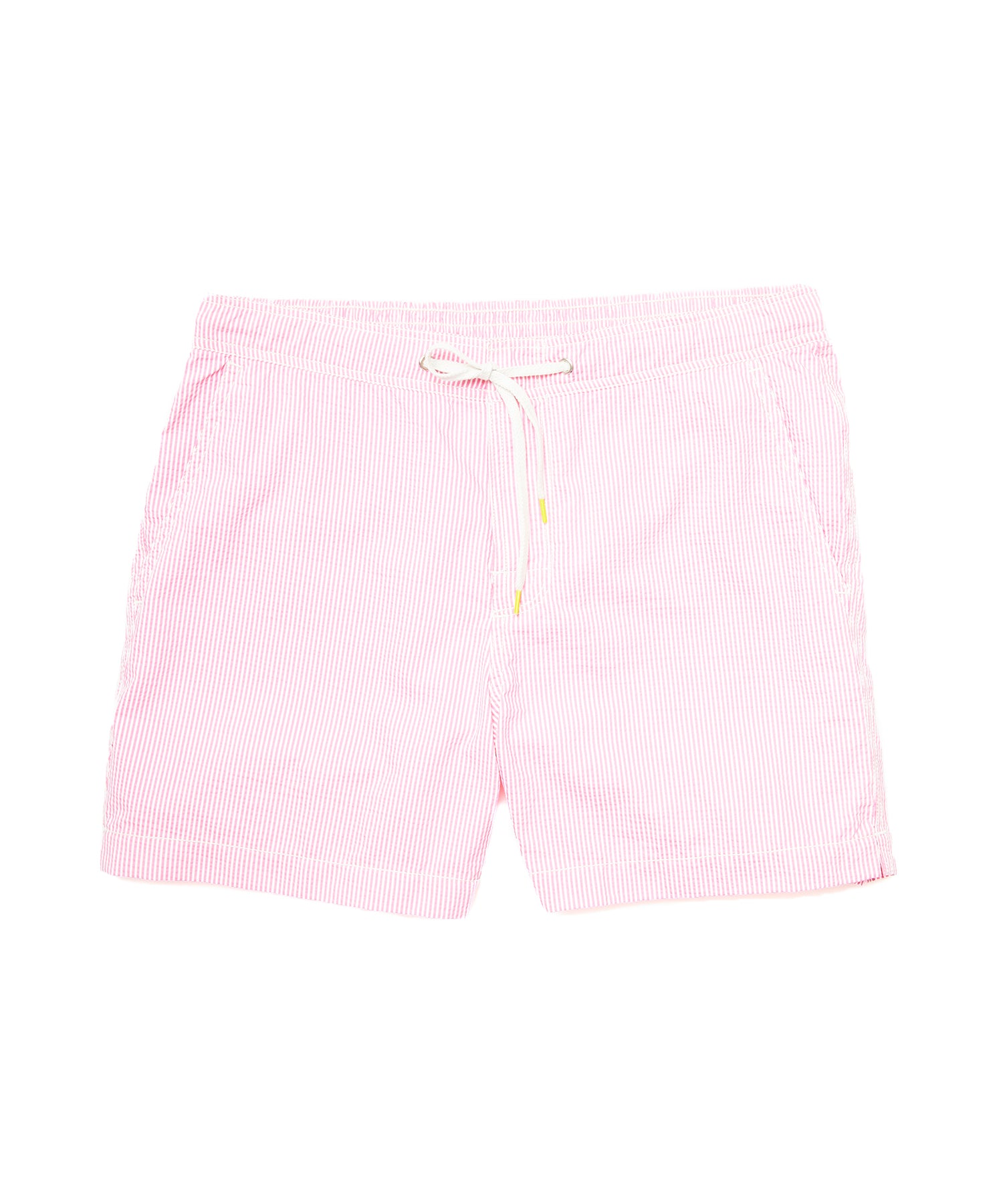 Hartford Kuta Seersucker Swim Trunks in Pink