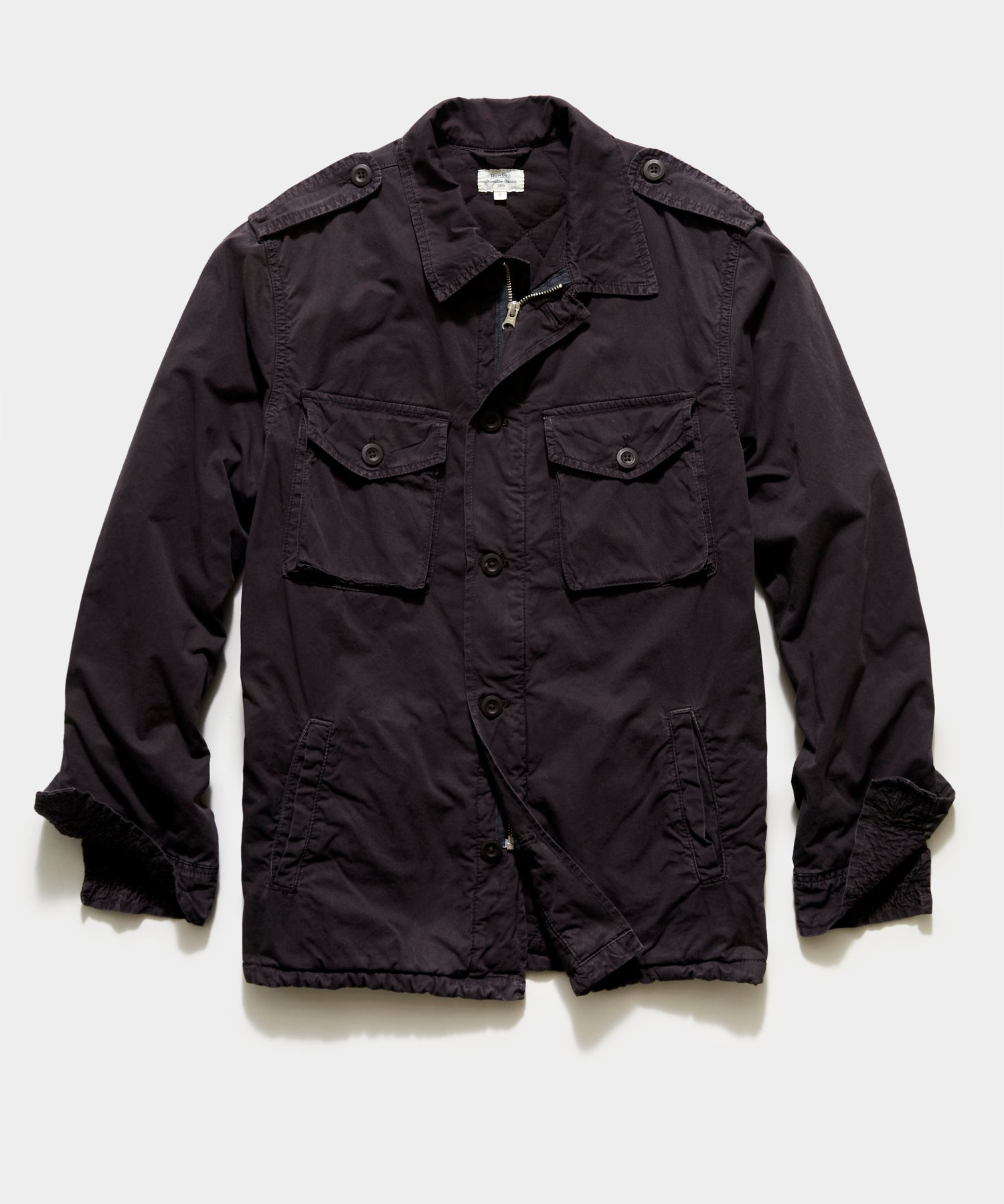 Hartford Jonah Military Jacket In Charcoal