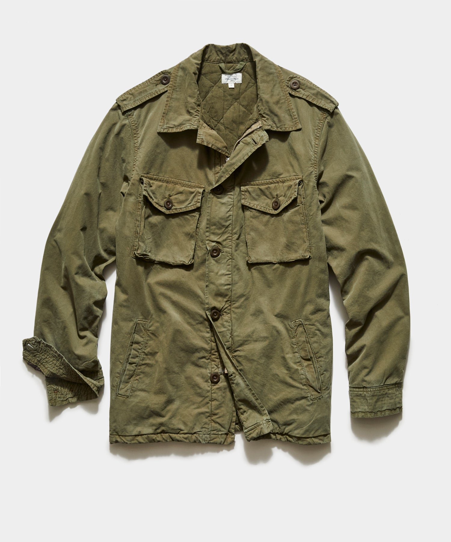Hartford Jonah Military Jacket In Army Green