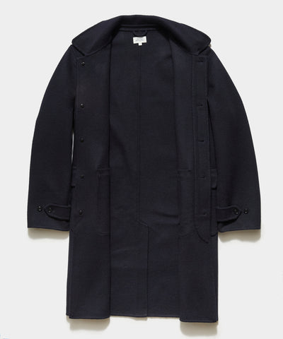 Hartford Stretch Double Face Coat in Navy