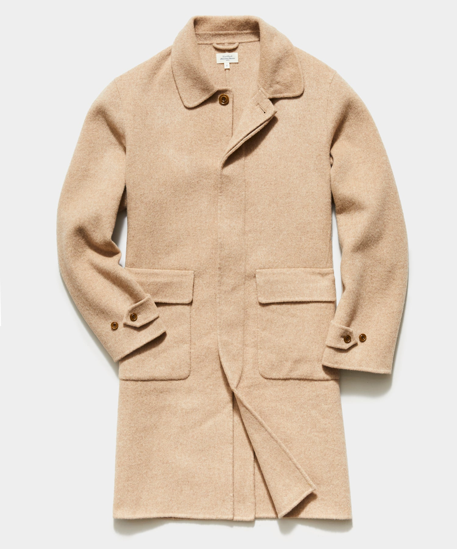 Hartford Stretch Double Face Coat in Camel