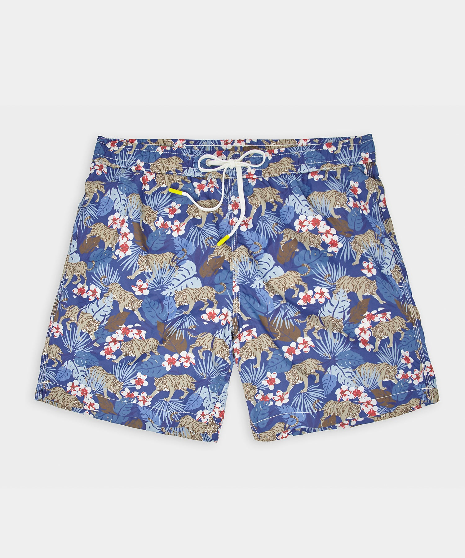 Hartford Tropical Tiger Print Swim Short in Indigo