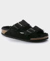 Birkenstock Arizona in Black Shearling