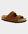 Birkenstock Arizona Suede Soft Footbed in Mink