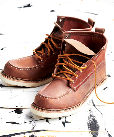Exclusive Red Wing X Todd Snyder Moc Toe Boot in Copper