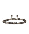M. Cohen Templar Sterling Disc And Stacked Matte Black Bracelet