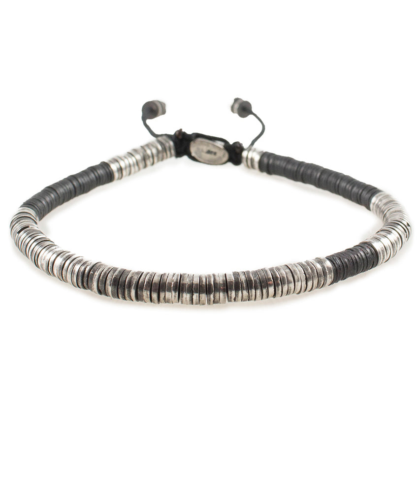 M. Cohen The Awaso Bracelet in Black with Sterling Silver