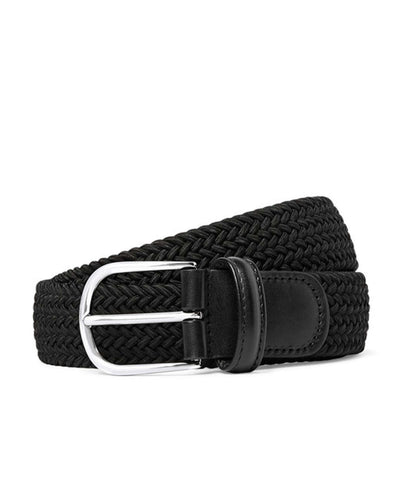 Anderson's Solid Woven Elastic Belt in Black
