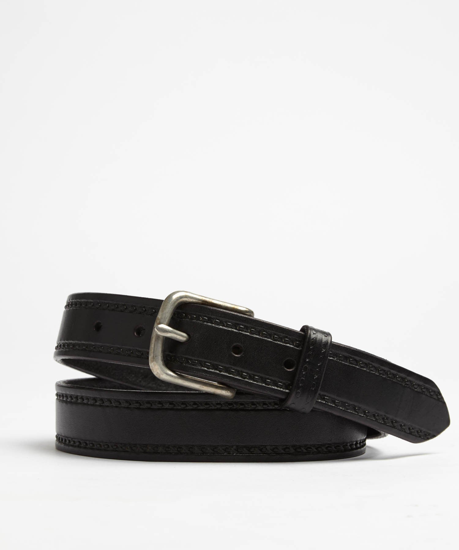 Seamed Leather Belt in Black