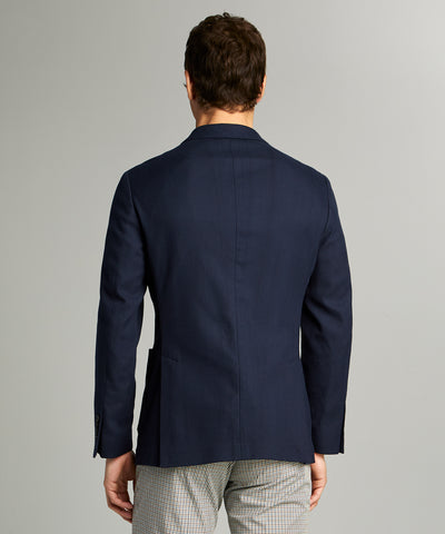 Sutton Italian Pique Sportcoat in Navy