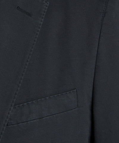 Garment Dyed Traveler Suit Jacket in Navy