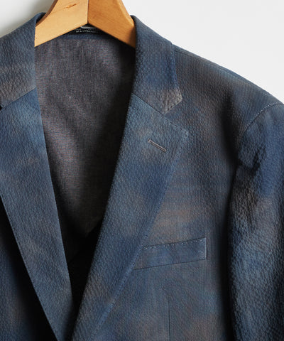 Tie Dye Traveler Suit Jacket in Blue