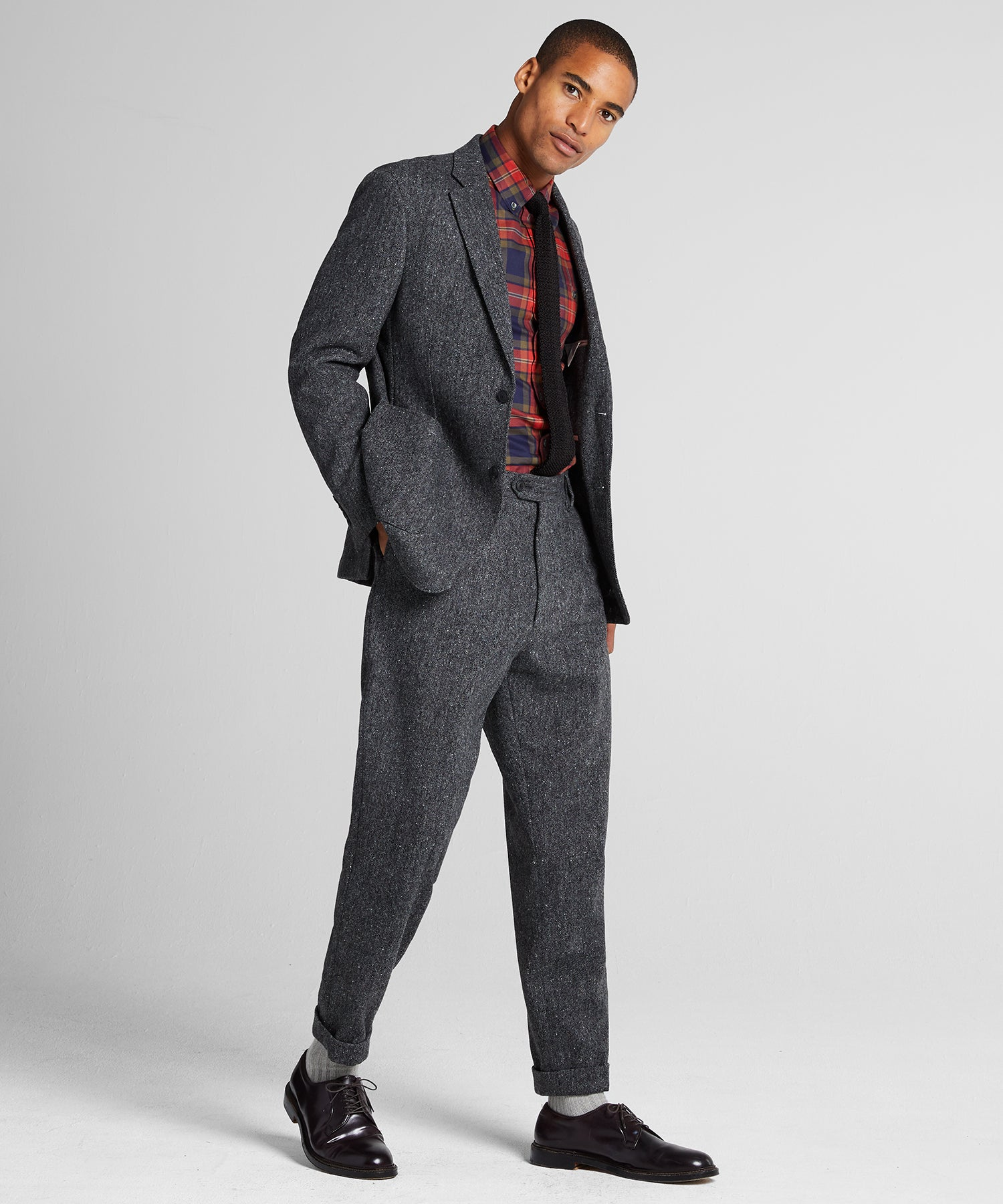 Donegal Wool Madison Traveler Suit in Charcoal