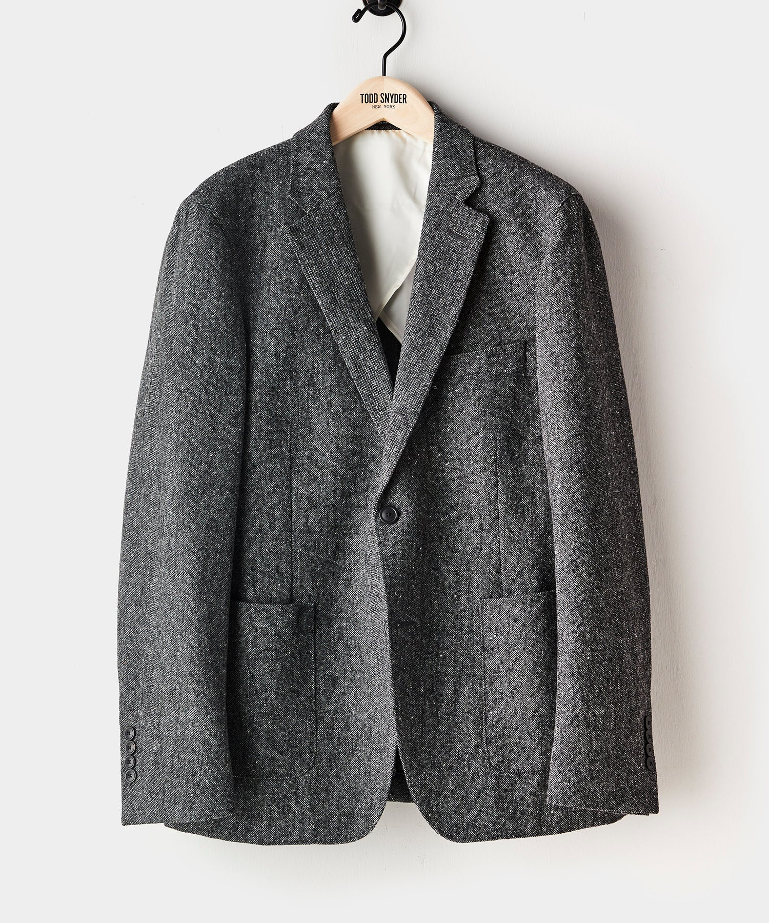 Donegal Wool Madison Suit Jacket in Charcoal