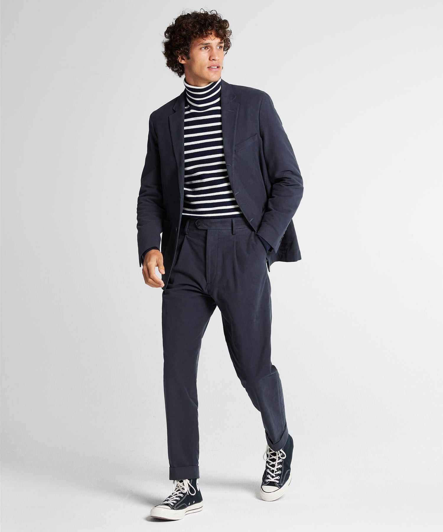 Stretch Moleskin Madison Suit in Charcoal