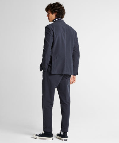 Stretch Moleskin Madison Suit Jacket in Charcoal