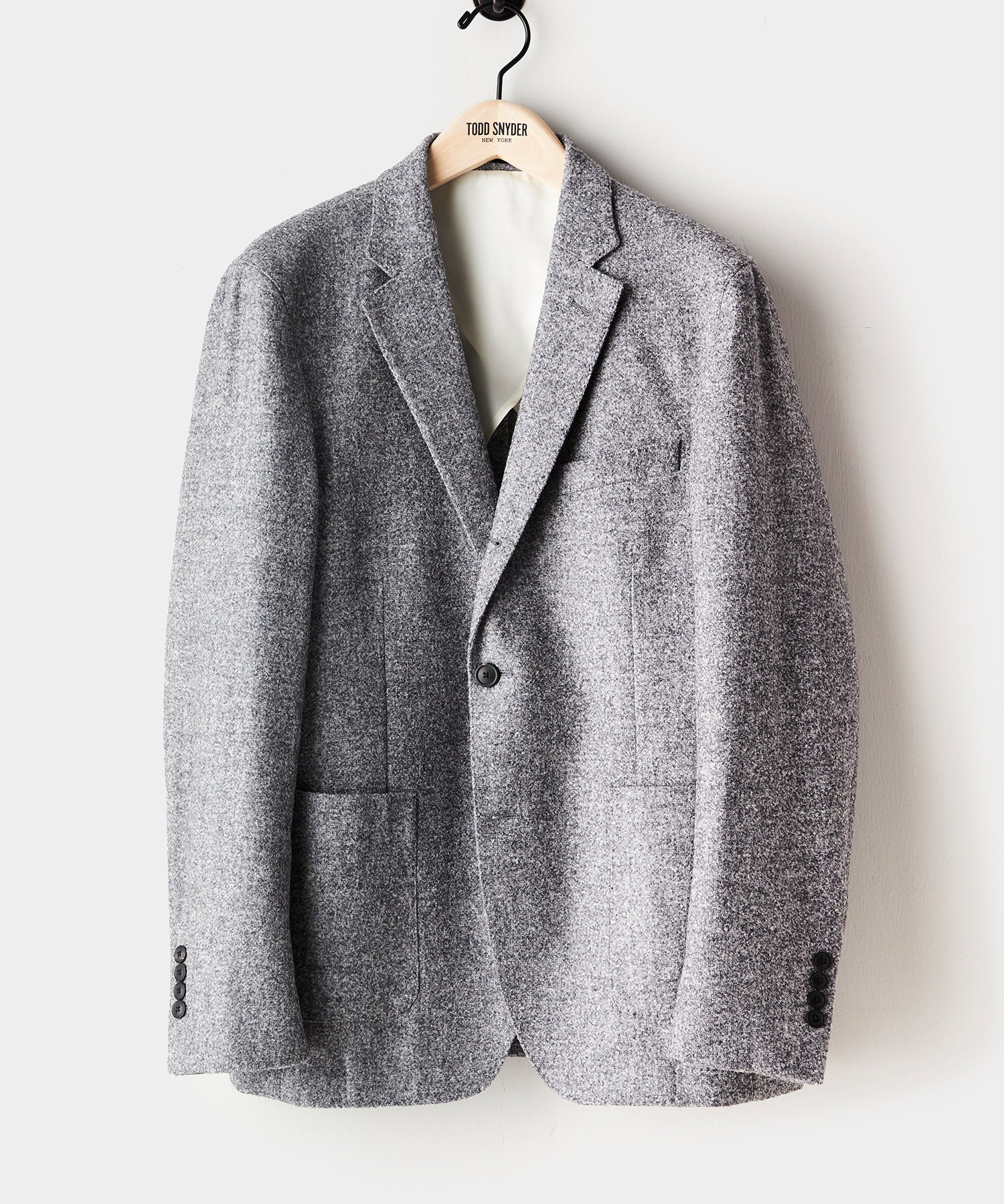 Unstructured Boucle Madison Sport Coat in Grey