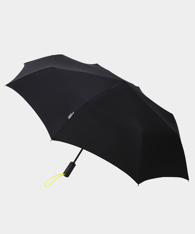London Undercover Auto-Compact Umbrella in Black with Neon Strap