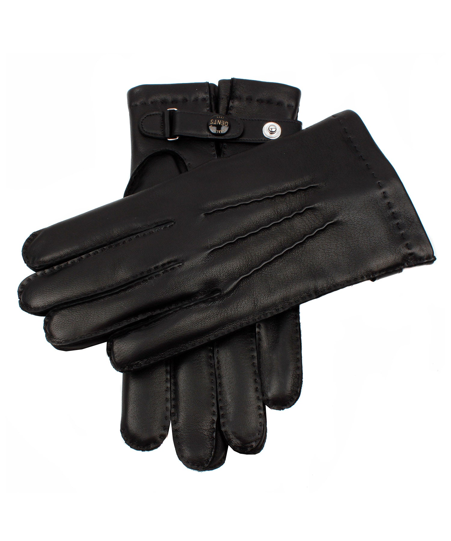 Dents Hatfield Black Leather Gloves