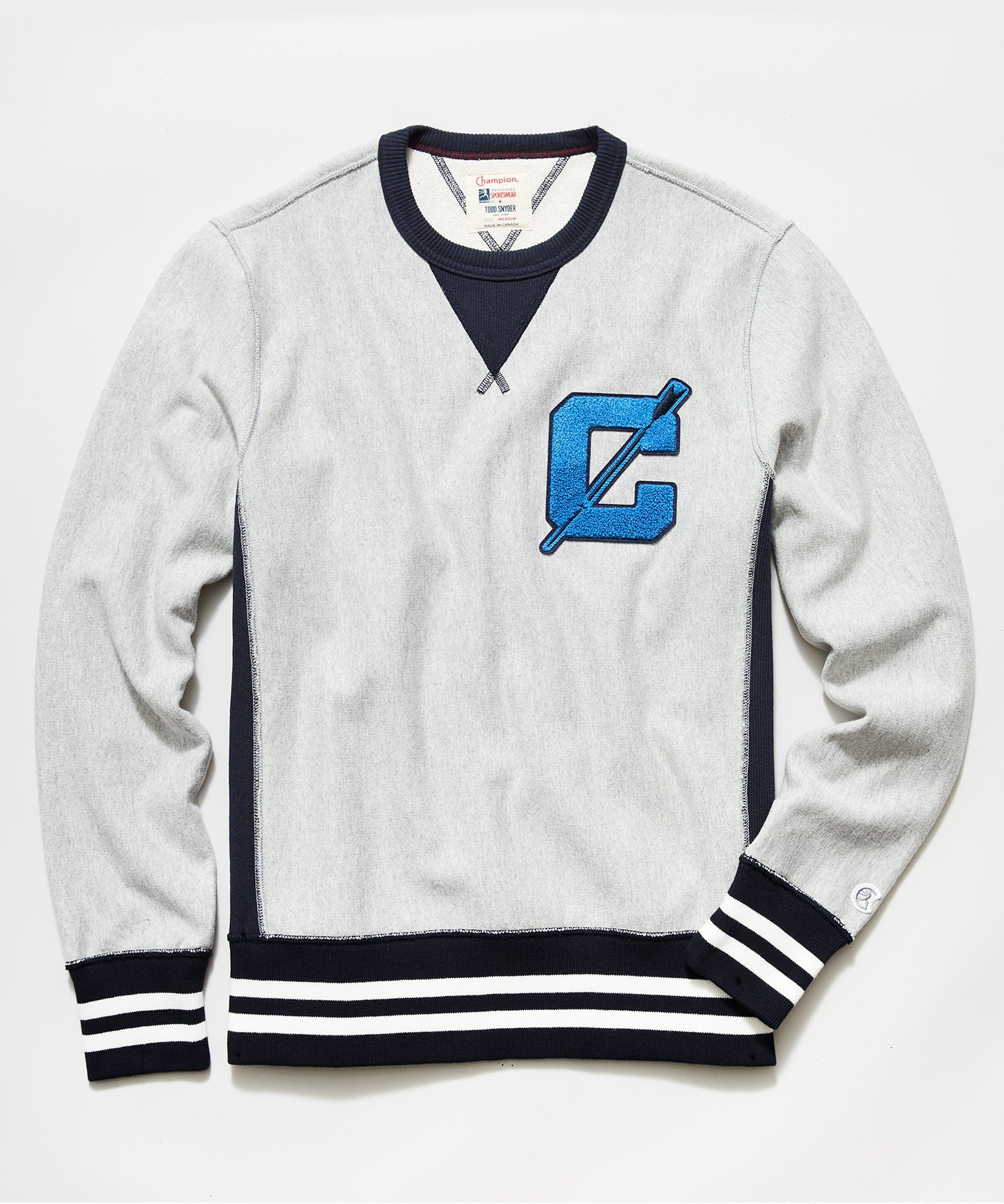Champion Rowing Sweatshirt in Grey Mix
