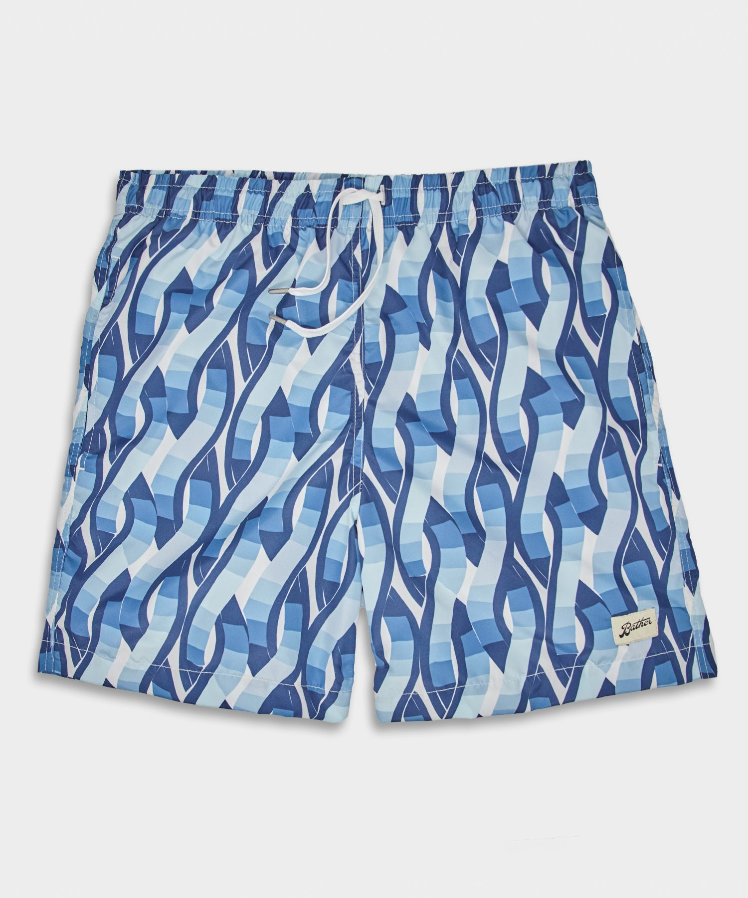 Bather Blue Weave Swim Trunk