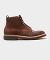 Todd Snyder + Alden Indy Boot in Tobacco Reverse Chamois Leather