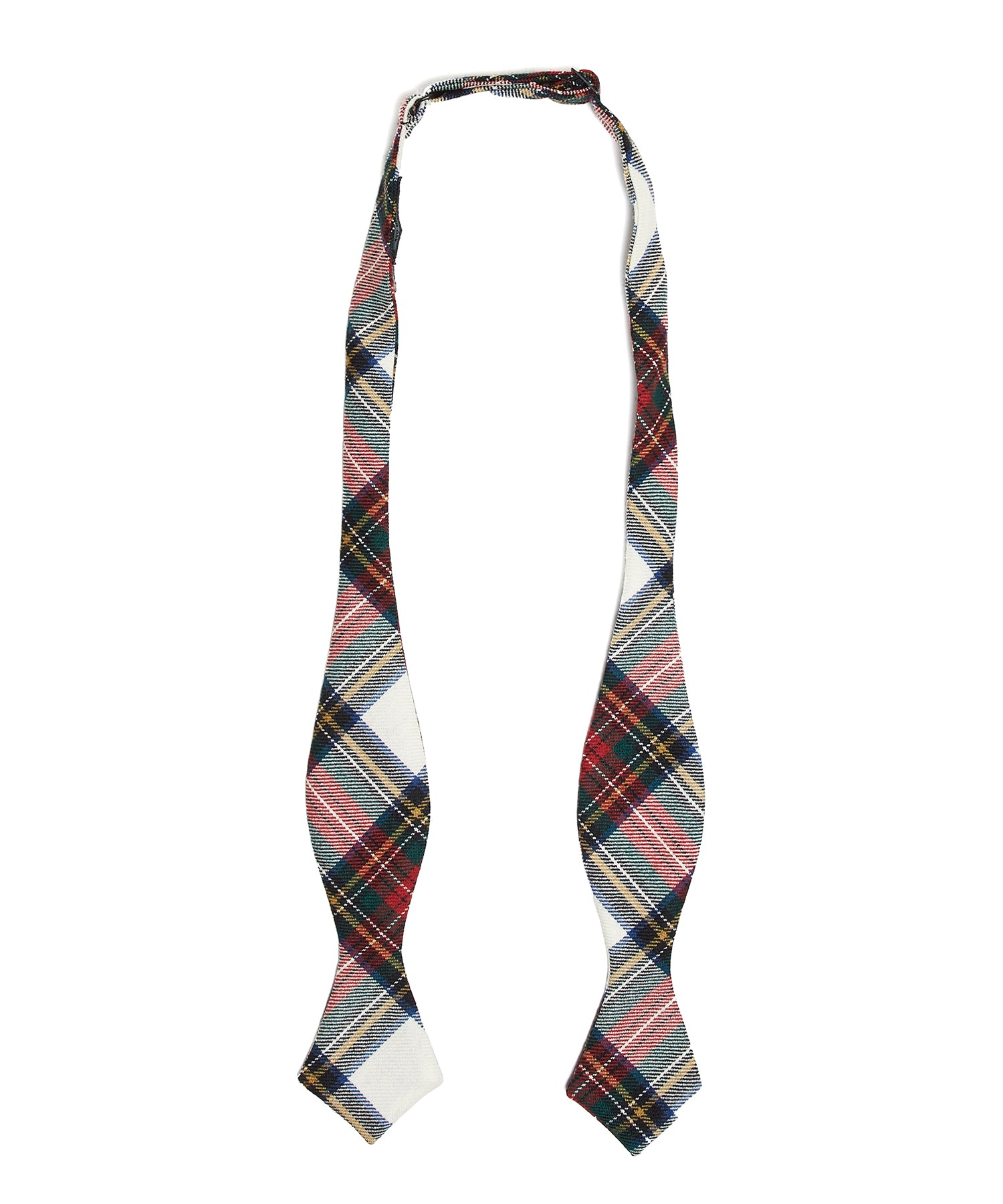 Abraham Moon TARTAN BOWTIE in WHITE