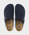 Birkenstock Boston in Midnight Suede