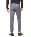 Navy and Grey Tropical Wool Plaid Sutton Suit Trouser