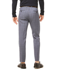 Navy and Grey Tropical Wool Plaid Sutton Suit Trouser Alternate Image