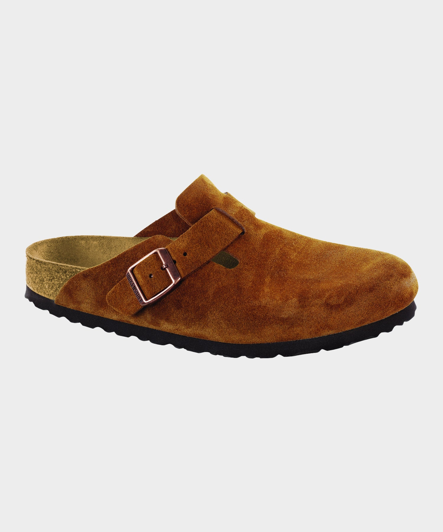 Birkenstock Boston Suede Soft Footbed in Mink