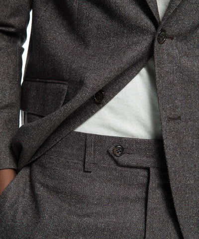 Sutton White Label Suit Jacket in Brown Donegal Wool