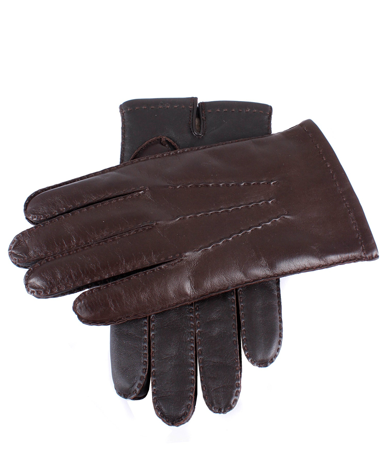 Dents Shaftesbury Brown Leather Touch Tech Gloves
