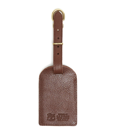 Il Bisonte Cowhide Luggage Label in Brown