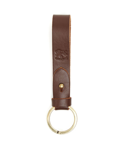Il Bisonte Cowhide Keyring in Brown