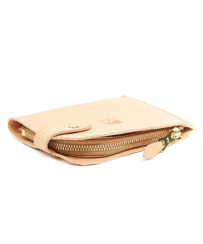 Il Bisonte Cowhide Zipper Wallet in Natural