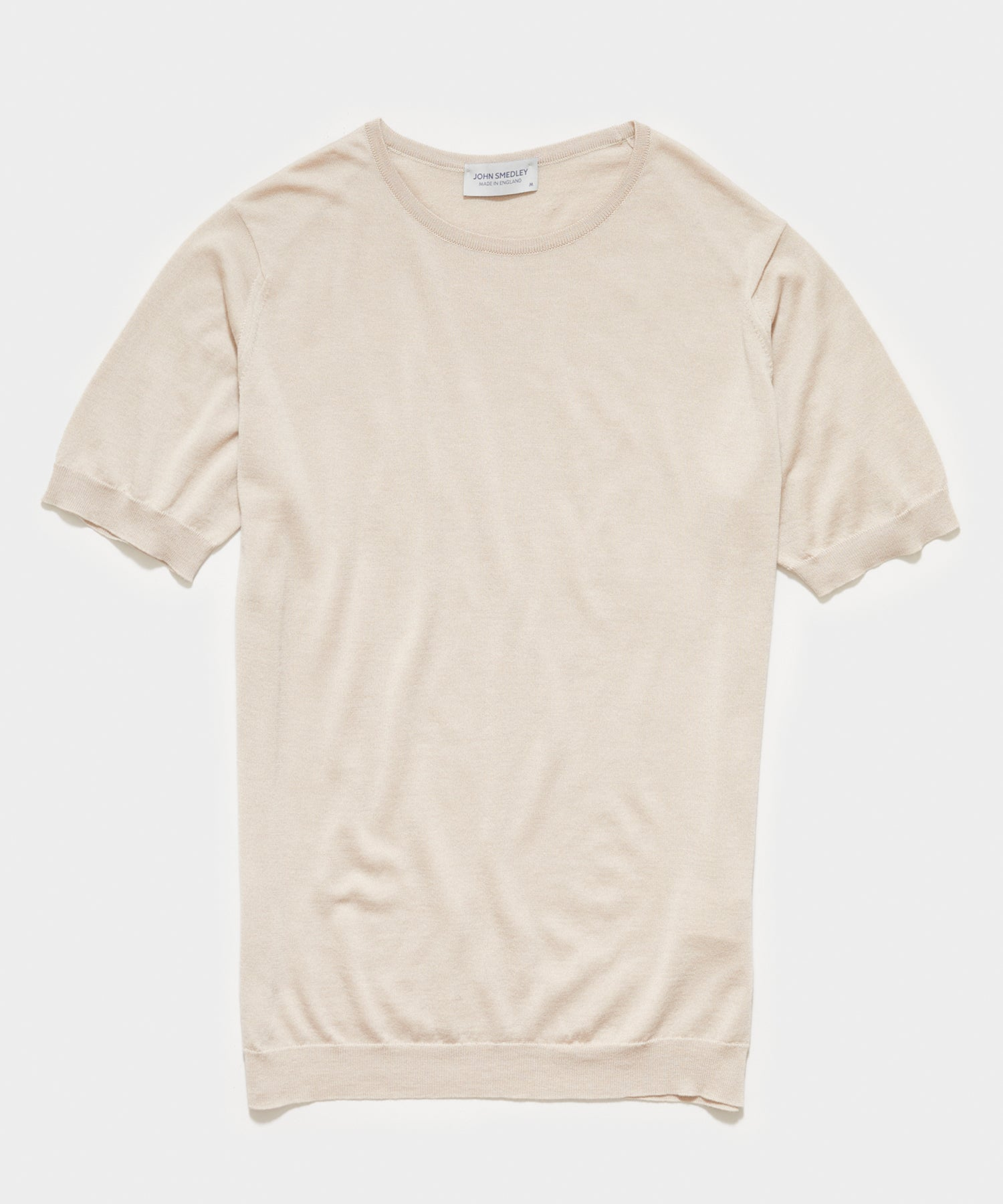 John Smedley Belden Sea Island Cotton T-shirt in Khaki