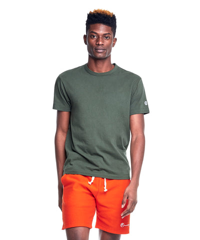 Champion Basic Jersey Tee in Olive Grove