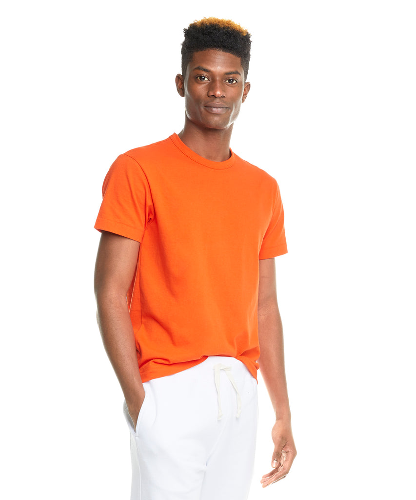 Champion Basic Jersey Tee in Sunset Orange