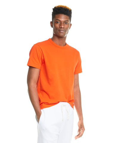 Non Slub Champion Tee in Sunset Orange