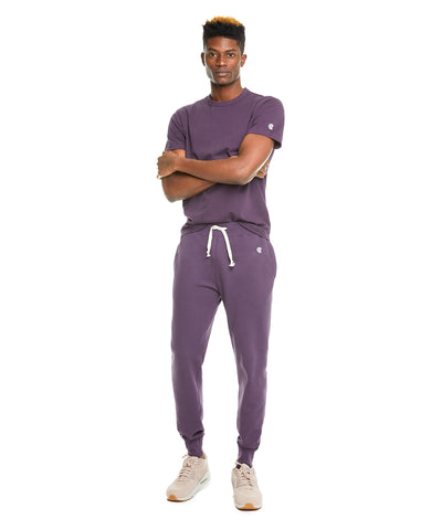 Terry Slim Jogger Sweatpant in Plum Royale